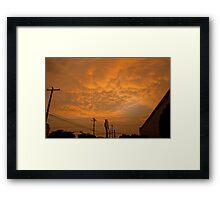 A Golden Austin Sky Framed Print