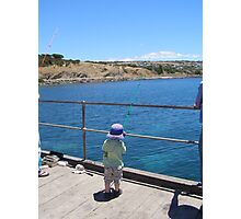 'WAS THAT A TINY NIBBLE!' Starting young, Victor Harbour. S.A. Photographic Print