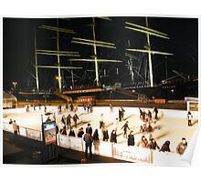 Skating Rink, Tall Ships, South Street Seaport Poster