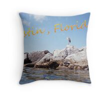 Destin, Florida Postcard Throw Pillow