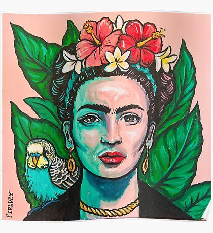 Pink Frida Kahlo Poster