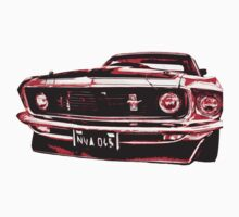Red Ford Mustang by benbdprod