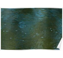 Ripples and bubbles Poster