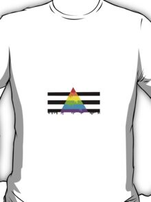 Straight ally flag paint T-Shirt
