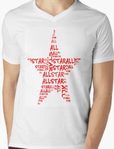 All Star Mens V-Neck T-Shirt