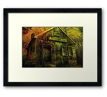 Spooky Grist Mill in Oil Framed Print