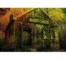 Spooky Grist Mill in Oil Photographic Print