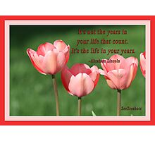 Its not the years...... Photographic Print