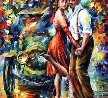 Old Tango - original oil painting on canvas by Leonid Afremov by Leonid  Afremov