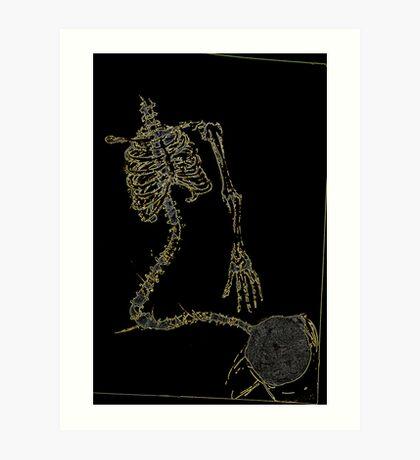Skeleton Knit Art Print