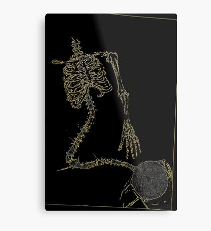 Skeleton Knit Metal Print