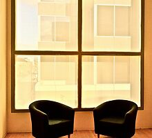 Two Chairs By Window by Scott Johnson