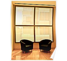 Two Chairs By Window Poster