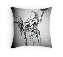 """Old Crone"" Throw Pillow"