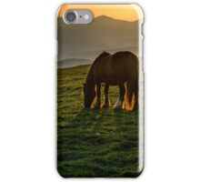 A nice spot to graze, sunrise over Monte Subasio, Umbria, Italy iPhone Case/Skin