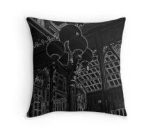 Station Landing - Light Etch Series Throw Pillow