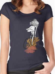 Autumn Bicycle Women's Fitted Scoop T-Shirt