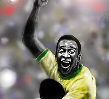 PELE ! IN A MOMENTOUS MOMENT by Ray Jackson