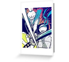 Fight! - Usagi x Leonardo Greeting Card