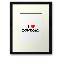 I Love DONEGAL Framed Print
