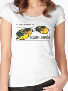 I'm Taking My Talents To South Beach Shirt Women's Fitted Scoop T-Shirt