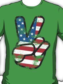 Retro American Peace Shirt T-Shirt