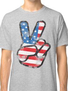 Retro American Peace Shirt Classic T-Shirt