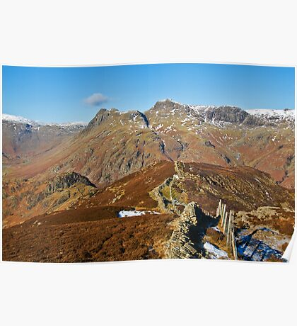 The Langdale Pikes Poster