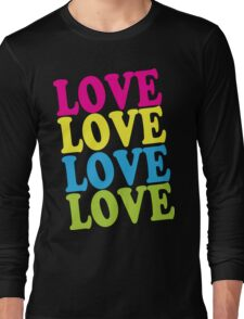 Retro Love Shirt Long Sleeve T-Shirt