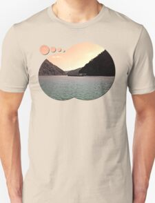 Danube river ship at evening | waterscape photography T-Shirt