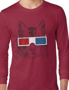 Cat Geek Shirt Long Sleeve T-Shirt
