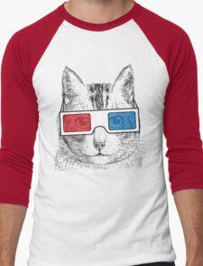 Cat Geek Shirt Men's Baseball ¾ T-Shirt