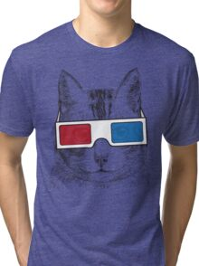 Cat Geek Shirt Tri-blend T-Shirt