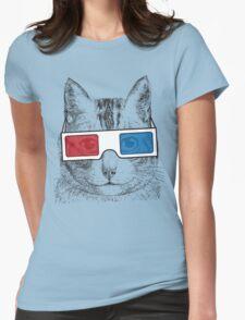 Cat Geek Shirt Womens Fitted T-Shirt