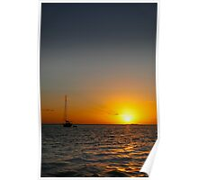 Sunset Sea Australia Poster