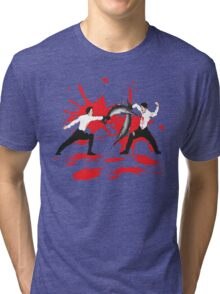 Sword Fight Graphic Shirt Tri-blend T-Shirt