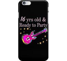 ROCK N ROLL 16TH BIRTHDAY DESIGN iPhone Case/Skin