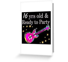 ROCK N ROLL 16TH BIRTHDAY DESIGN Greeting Card