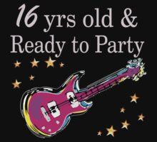 ROCK N ROLL 16TH BIRTHDAY DESIGN by JLPOriginals