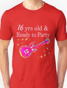ROCK N ROLL 16TH BIRTHDAY DESIGN Unisex T-Shirt