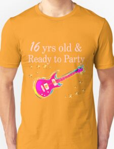 ROCK N ROLL 16TH BIRTHDAY DESIGN T-Shirt
