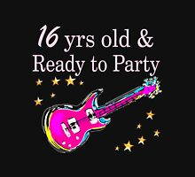 ROCK N ROLL 16TH BIRTHDAY DESIGN Women's Fitted Scoop T-Shirt