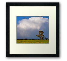 Storm clouds over Cardinia, Gippsland, Victoria. Framed Print