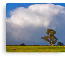 Storm clouds over Cardinia, Gippsland, Victoria. Canvas Print