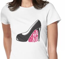 step on it Womens Fitted T-Shirt