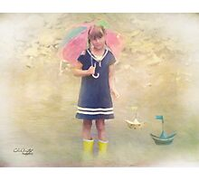 Playing in the Rain Photographic Print