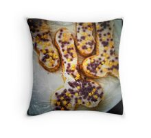 Hen Party Biscuits Throw Pillow