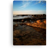 Golden Coast Line Canvas Print