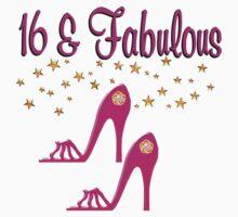 SWEET 16TH BIRTHDAY PINK HIGH HEELED DESIGN by JLPOriginals
