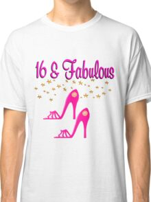 SWEET 16TH BIRTHDAY PINK HIGH HEELED DESIGN Classic T-Shirt